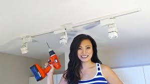 how to install track lighting changing a light fixture for beginners you