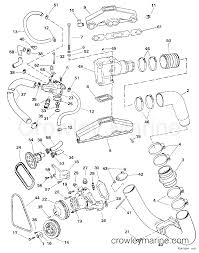 Exhaust cooling 1998 omc stern drive 5 50fbpbyc crowley marine rh crowleymarine 4 3 mercruiser engine wiring diagram 4 3 v6 engine diagram