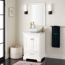24 Quen Vessel Sink Vanity White Bathroom