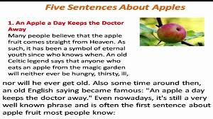 essay on apple fruit comparison contrast essay my favourite fruit five sentence about apple five sentence about apple