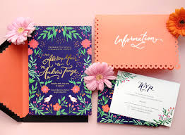 Colorful Mexican Fete Inspired Wedding Invitations Mexican Wedding Invitations