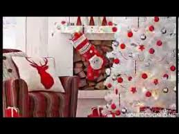 Red and white Christmas decorating ideas accents for your holidays - YouTube