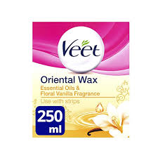 veet essential oils and fl vanilla warm wax microwavable jar 250 ml amazon co uk health personal care