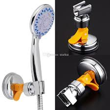 2019 bathroom shower heads bracket seat bathroom adjule shower head holder rack bracket suction cup wall mounted replacement holder wx9 431 from starhui