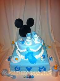 Mickey Baby Cake  Mickey Cake Is Made Entirely Of Marshmallow Baby Mickey Baby Shower Cakes