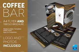 Coffee Shop Brochure Template Coffee A24 Trifold Brochure And Flyer Flyer Templates Creative Market 18