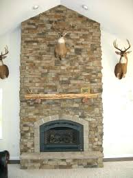 dry stack fireplace stone veneer stacked surround installing i es