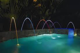 pool waterfall lighting. Pentair Laminar Fountains Pool Waterfall Lighting