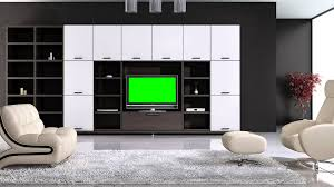 Tv In Living Room Tv In Living Room In Green Screen Free Stock Footage Youtube