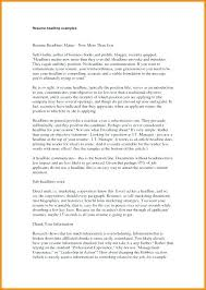 Resume Headline Sample – Esdcuba.co