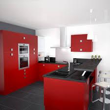 Cuisine Moderne Blanche Et Rouge Best Of Deco Cuisine Rouge Et Gris