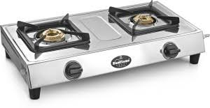 Sunflame Smart Stainless Steel Manual Gas Stove 2 Burners Best Price