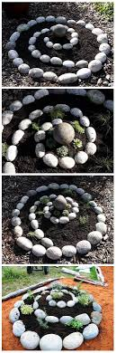 Rock Spiral Garden LOVE this so much! Our yard 'grows' river rocks, so we  have plenty to do this!
