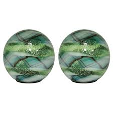 Outdoozie Outdoor Glass Solar Light Outdoozie 5 In Art Glass Solar Gazing Ball 2 Pack