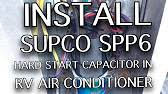 install hard start capacitor into rv air conditioner