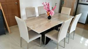 engaging marble kitchen table 6 round dining set