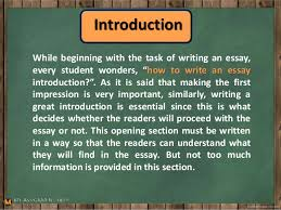 Some Tips On How To Write An Essay Introduction