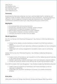 Maintenance Job Resume Gorgeous Maintenance Worker Resume Building Good Template Resume Format Example