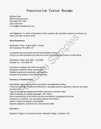 Gui Testing Resume Manual Tester Format Qa Samples For Experience