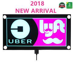 Uber Lyft Light Up Sign Uber Sign Glow Led Light Logo Decal Stickers With Bigger