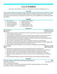 Merchandiser Retail Representative Part Time Resume Sample