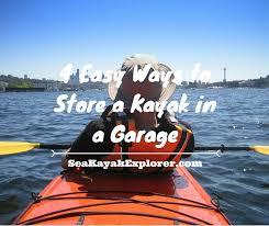 4 easy ways to a kayak in a garage