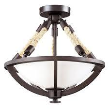 boathouse nautical rope semiflush ceiling light nautical flush mount light89