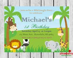 Jungle Theme Birthday Invitations Safari Birthday Invitation Jungle Birthday Invitation Safari Birthday Safari Animals Jungle Theme Birthday Party Printables