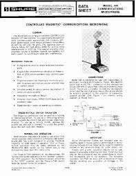 microphone shure 444 wiring diagram microphone diy wiring diagrams shure 444 communications microphone sm service manual