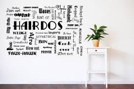creative idea salon wall art interior decorating hairdo decal hair decor stickers posters decals canvas ideas style