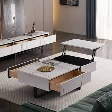 storage modern square coffee table