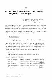 Von Der Problemstellung Zum Fertigen Programm Ein Beispiel Springer
