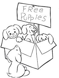 cute puppy coloring pages to print page pictures
