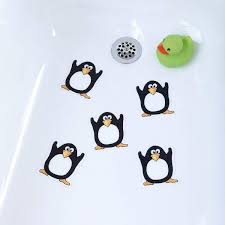 com penguin bathtub stickers safety decals treads non slip