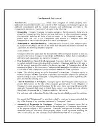 Sample Consignment Agreement Template Agreement Latest Consignment Agreement Form Consignment Agreement Form 11