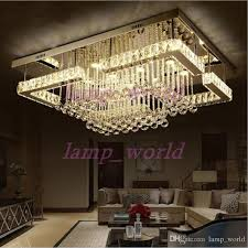 rectangular flush mount kitchen light beautiful new modern luxury pandant light rectangular led k9 crysal chandelier ceiling mounted crystal fixutres foyer