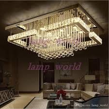 rectangular flush mount kitchen light beautiful new modern luxury pandant light rectangular led k9 crysal chandelier ceiling mounted crystal fixutres foyer