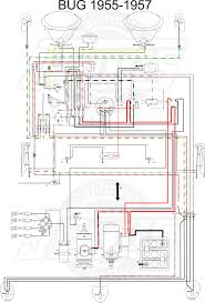 vw tech article wiring diagram vw beetle mid 1955 57 wiring