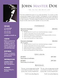 Best Free Resume Templates Inspiration Best Resume Template Docx