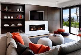 modern living room with pops of color raven inside interior design