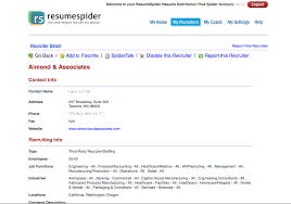 ... Ravishing Send Resume To Recruiters Resumespider Targeted Distribution  Service Employers And ...