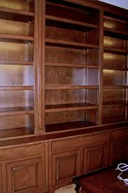 photo wood gem dallas. Stained Maple Bookcase With Pilasters And LED Lights On A Traditional Credenza Photo Wood Gem Dallas