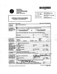 Stock Number Exhibit 3 1 Articles Of Incorporation