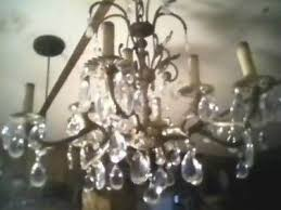 spanish style solid brass 12 light vintage chandelier crystal prism ceiling cap 508763867