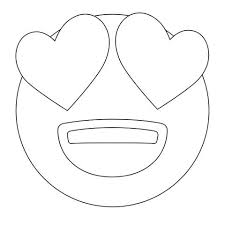 Small Picture emoji coloring pages Heart Eyes Emoji Coloring Sheets Coloring
