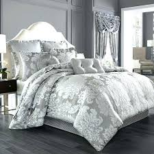 7 king luxury damask comforter set black silver jacquard pleated easy care california