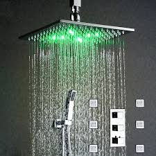 shower led lights thermostatic ceiling square rain shower system hydro power led lights shower bath inch