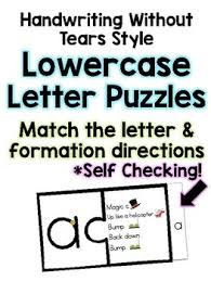 Handwriting Without Tears Lowercase Letters Worksheets