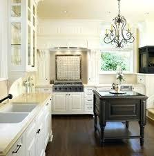 chandelier in the kitchen kitchen island