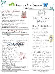 February Newsletter Template February Newsletter Preschool Learn And Grow Designs Website
